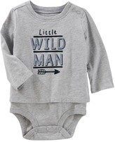 "Osh Kosh Baby Boy Mock-Layer ""Little Wild Man"" Bodysuit"