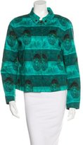 Piazza Sempione Abstract Print Lightweight Jacket