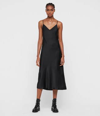 AllSaints Tierny Roll Neck 2-in-1 Dress