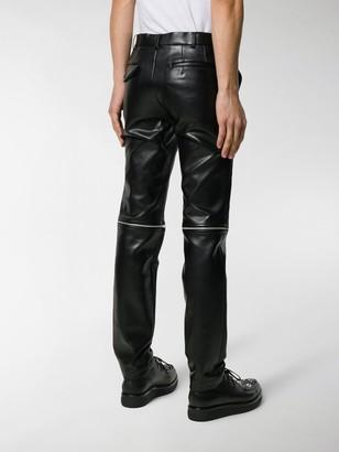 Comme des Garcons Faux-Leather Zipped Trousers