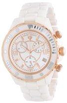 Swiss Legend Men's 30050-WWRR Karamica Chronograph White MOP Dial White Ceramic Watch