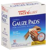 Harmon® Face ValuesTM 10-Count 2-Inch x 2-Inch Sterile Gauze Pads