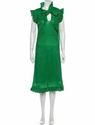 Vetements Tie Neck Midi Length Dress w/ Tags Green
