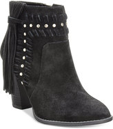 INC International Concepts Women's Jade Suede Fringe Booties, Only at Macy's