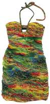 Alberto Makali Rainbow Gathered Halter Dress