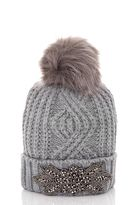 Quiz Grey Facet Pom Pom Hat