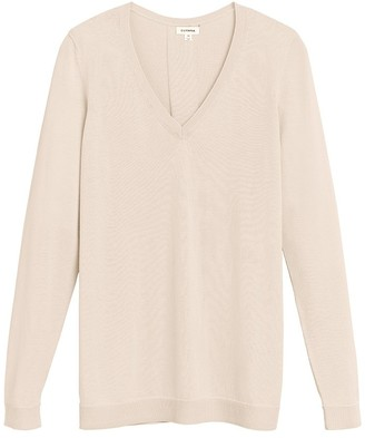 Cuyana Classic Cotton Cashmere V-Neck Sweater