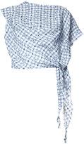 Vivienne Westwood checked tie knot blouse - women - Cotton/Linen/Flax - S