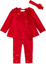 First Impressions 3-Pc. Headband, Bow Tunic and Leggings Set, Baby Girls, Created for Macy's