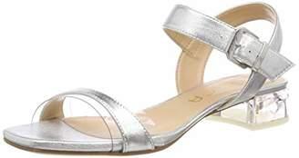 Unisa Women's Donova_LMT Ankle Strap Sandals, Silver