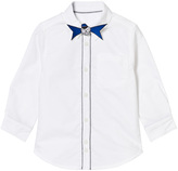 Little Marc Jacobs White Branded Shirt with Mr Marc Bow Tie