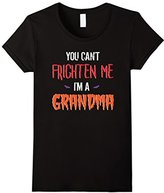 Women's You Can't Frighten Me I'm a Grandma Funny Halloween Tee Large