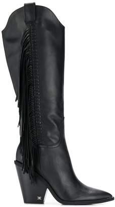 Sam Edelman cowboy-style fringed boots