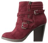 Charlotte Russe Wrapped Double-Buckle Ankle Booties