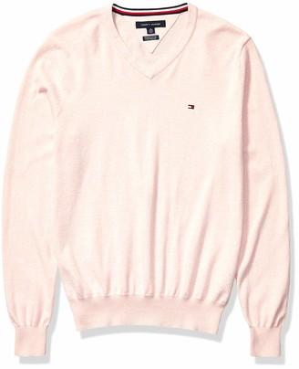 Tommy Hilfiger Men's Cotton V Neck Sweater