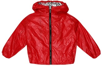 BURBERRY KIDS Embossed logo jacket