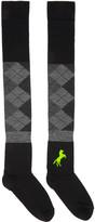 Haal Black Cassiopeiae Over-the-Knee Socks