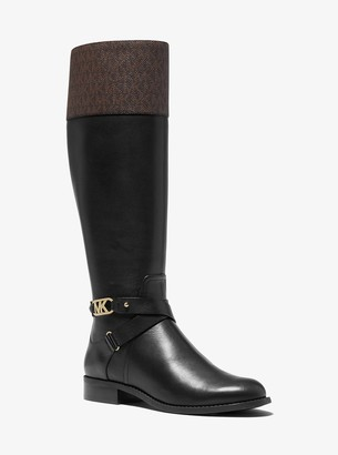 MICHAEL Michael Kors Kincaid Leather and Logo Riding Boot