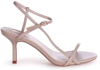 Linzi LILIYA - Taupe Nappa Strappy Low Stiletto Heel