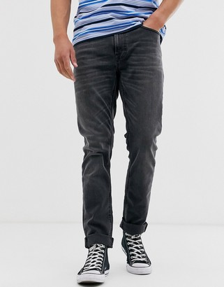 Nudie Jeans Lean Dean slim tapered fit jeans in mono gray wash