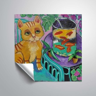 ArtWall Le Chat De Matisse, Removable Wall Art Mural by Holly Wojahn