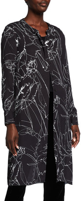 Piazza Sempione Abstract-Print Button-Down Long Shirt