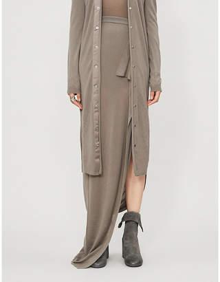 Rick Owens Ruffled cashmere maxi skirt