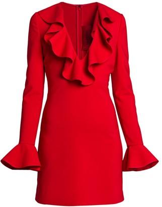 Valentino Rosso Capsule Ruffle Mini Dress