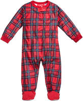 Family Pajamas Baby Boys' or Baby Girls' Holiday Plaid Footed Pajamas, Created for Macy's