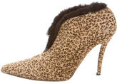 Walter Steiger Ponyhair Leopard Print Booties