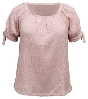 Style&Co. Style & Co Plus Size Tie-Sleeve Top, Created for Macy's