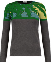 Sonia Rykiel Intarsia Wool And Silk-Blend Sweater