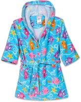 Komar Kids St. Eve Girls Beach Cover-Up ( Seahorse), Kids Size M(7/8)