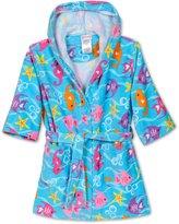 Komar Kids St. Eve Girls Beach Cover-Up ( Seahorse), Kids Size M(7/8)