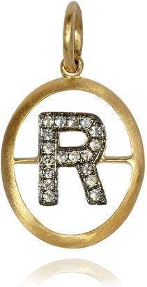 Annoushka Yellow Gold and Diamond Initial R Pendant