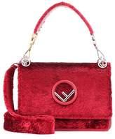 Fendi Kan I F velvet shoulder bag