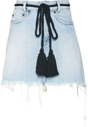 Miu Miu rope waist denim skirt