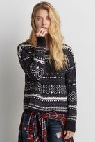 American Eagle Outfitters AE Patterned Crew Sweater