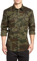 Dockers Camo Print Twill Military Shirt