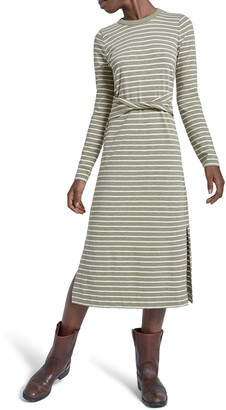 Current/Elliott The Studio Long Sleeve Mid Dress