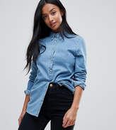 Asos Denim Shirt In Midwash Blue