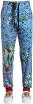 Gucci New Flora Print Jersey Track Pants