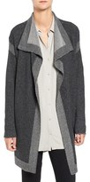Eileen Fisher Plait Detail Cashmere & Wool Drape Front Cardigan