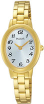 Pulsar Womens Gold-Tone Stainless Steel Bracelet Watch