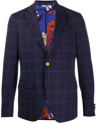 Etro Checked Casual Blazer