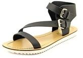 Report Rodeo Women Open Toe Synthetic Black Gladiator Sandal.