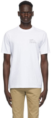 Vetements White 0.0005 Graphic T-Shirt