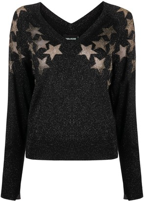 Zadig & Voltaire Star-Print Knitted Jumper