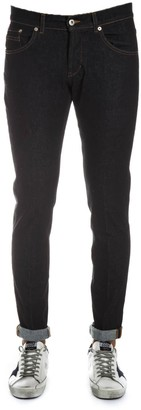 Dondup Ritchie Black Skinny Fit Cotton Jeans