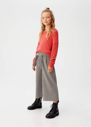 MANGO Houndstooth culotte trousers